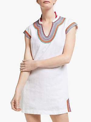 dff77c06295 Boden Yasmin Linen Tunic Dress, White