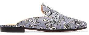 Sam Edelman Perri Printed Leather-Trimmed Canvas Slippers