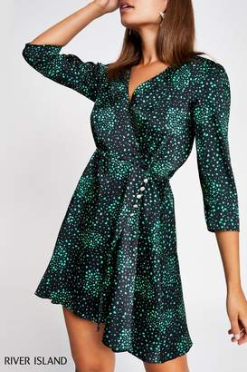 River Island Womens Black Non Ls Turner Waisted Mini Dress - Black