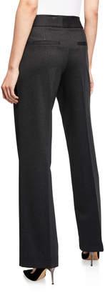 Neiman Marcus Fabianne Boot-Leg Front-Seam Suiting Pants