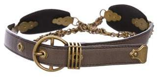 Bottega Veneta Leather Chain Belt