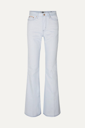 Eytys Oregon Twill High-rise Flared Jeans - White