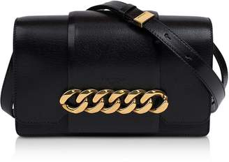 Givenchy Black Leather Infinity Clutch W/detachable Shoulder Strap