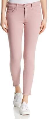 Mavi Jeans Adriana Ankle Zip Skinny Jeans in Light Rose Twill