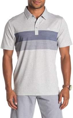 Travis Mathew The Pitt Striped Polo Shirt