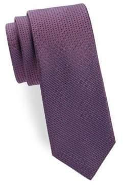 Saks Fifth Avenue Two-Tone Diamond Silk Tie
