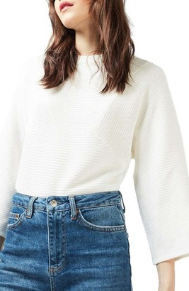 Women's Topshop Diamond Kimono Sleeve Sweater $68 thestylecure.com