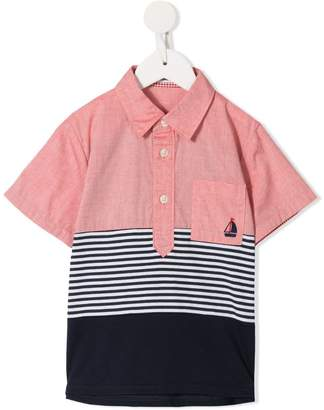 Familiar colour block polo shirt