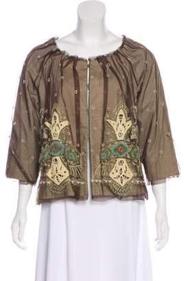 Rozae Nichols Tulle Embroidered Jacket