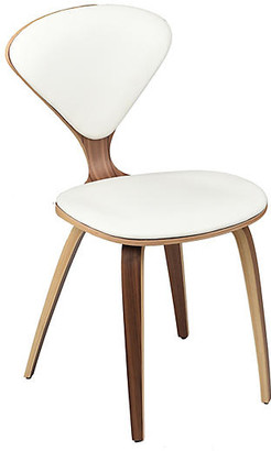 One Kings Lane Satine Side Chair - White Leather