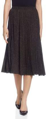 T Tahari Pleated Metallic Skirt
