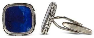John Varvatos Collection Sterling Silver Square Lapis Cufflinks