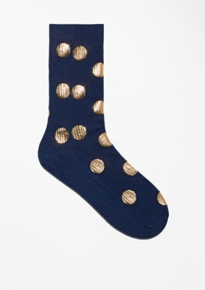 Other Stories Gold Dots Socks