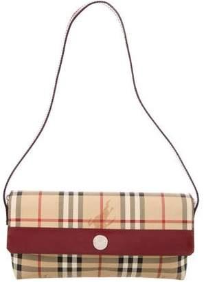Burberry Haymarket Check Flap Bag