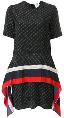Stella McCartney scarf panel monogram dress