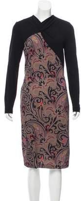 Etro Long Sleeve Printed Dress