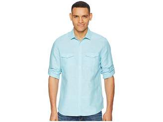 Calvin Klein Roll-Tab Woven Shirt Men's Clothing