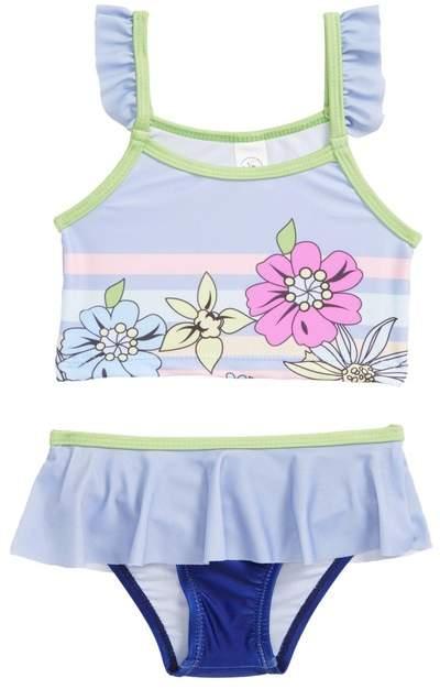 Limeapple Ruffle Two-Piece Swimsuit (Baby Girls)