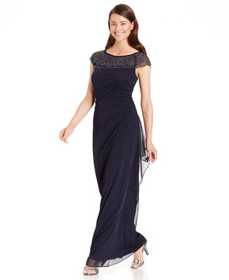 Msk Embellished Side-Ruffle Gown $109 thestylecure.com
