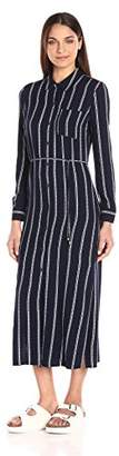 Splendid Women's Rope Stripe Shirtdress Maxi