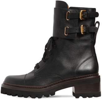 See by Chloe 40MM MALLORY LEATHER ANKLE BOOTS