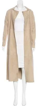 Linea Pelle Suede Long Coat w/ Tags