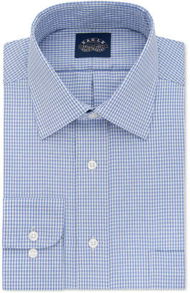 Eagle Big & Tall Non-Iron Stretch Collar Blue Check Dress Shirt