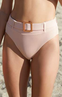 Sports Illustrated Swim Belted High Waisted Bikini Bottom