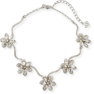 Oscar de la Renta Crystal Delicate Flower Necklace