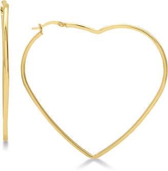 Macy's Large Heart Shape Hoop Earrings