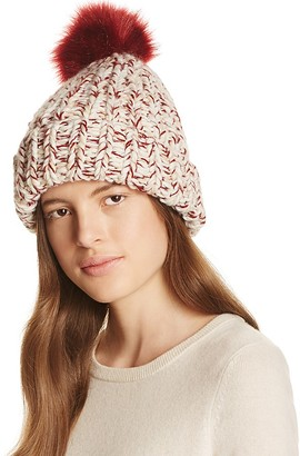 Nor La Marled Cuff Hat with Faux Fur Pom-Pom $58 thestylecure.com