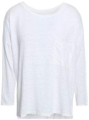 Velvet By Graham & Spencer Woman Georgie Mélange Slub Linen-jersey Top Off-white Size M Velvet Outlet Order Online Low Shipping Cheap Online Discount With Mastercard Prices Cheap Online Cheap 2018 vV85UUU