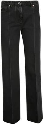 Valentino Contrast Logo Print Flared Jeans