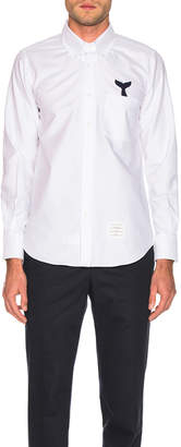 Thom Browne Straight Fit Button Shirt in White | FWRD