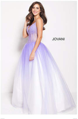 Jovani Lilac Princess Gown