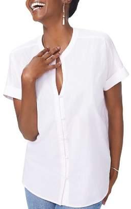 NYDJ Short Sleeve Boyfriend Pinstriped Top