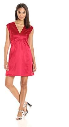 Paris Sunday Women's Cap Sleeve Sateen Sheath Dress