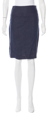Fendi Fendi Linen Knee-Length Skirt