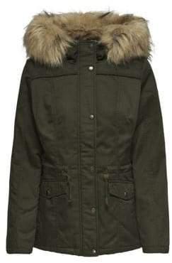 Only Faux Fur Parka Jacket