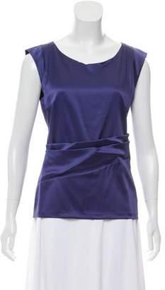 Etro Cap-Sleeve Silk Blouse
