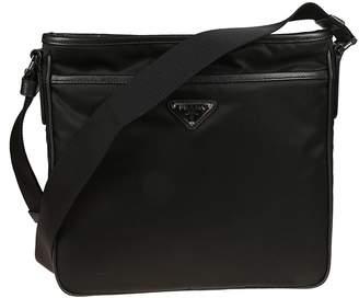 3f15f007a6d6cc italy leather shoulder bag prada black 42781 a9000; buy at italist prada  logo shoulder bag 1d18d e0d6e