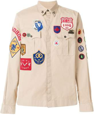 DSQUARED2 embroidered patch shirt