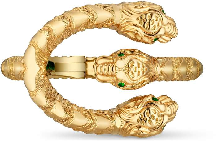 GucciDionysus bracelet in yellow gold with diamonds