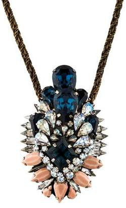 Shourouk Crystal Pendant Necklace