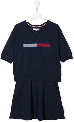 Tommy Hilfiger Junior logo romper dress