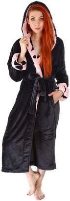 Simplicity Robes for men Bath Robe Mens Fleece Robe Mens Bathrobe Black Robe