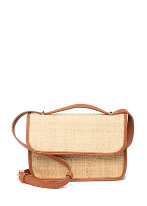 Urban Expressions Indio Straw Woven Crossbody Clutch