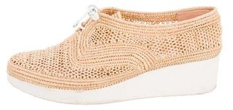 Robert Clergerie Raffia Lace-Up Wedge Sneakers $125 thestylecure.com