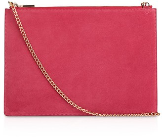 Whistles Rivington Suede Convertible Chain Clutch $150 thestylecure.com