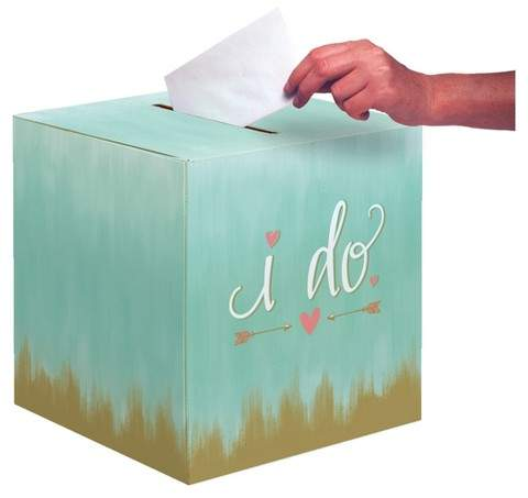 Mint to Be Bridal Card Box